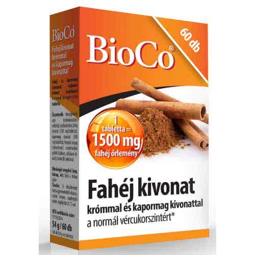 BioCo Fahéj kivonat 60 kap.