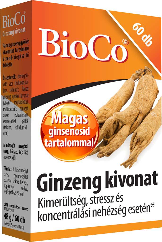 BioCo Ginzeng kivonat 60 tab.