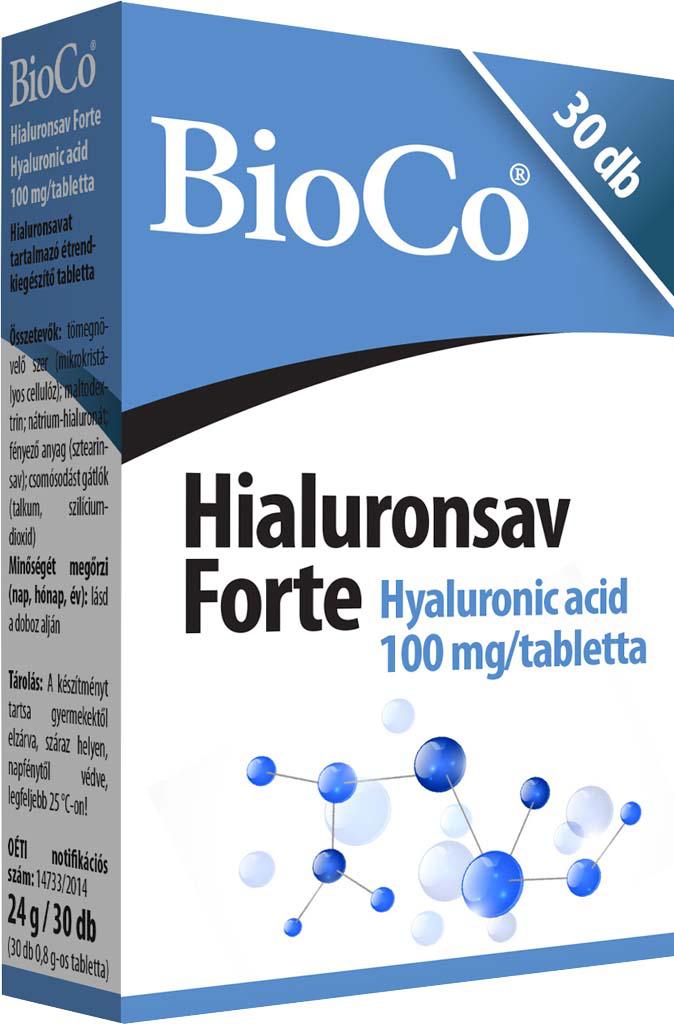 BioCo Hialuronsav Forte 30 tab.