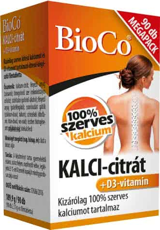 BioCo KALCI-citrát+D3-vitamin 90 tab.