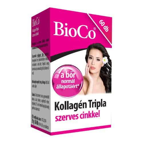 BioCo Kollagén Tripla szerves cinkkel 60 tab.