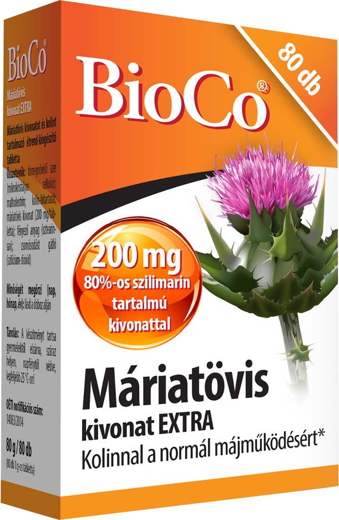 BioCo Máriatövis kivonat 80 tab.