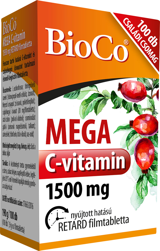 BioCo MEGA C-vitamin 1500 mg 100 tab.