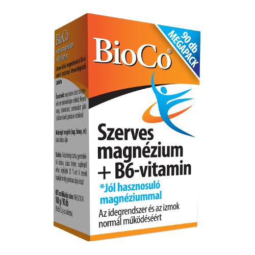 BioCo Szerves Magnézium+B6-vitamin 90 tab.