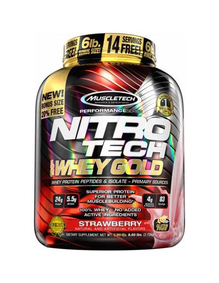 MuscleTech Nitro Tech 100% Whey Gold 2,51-2,72 kg
