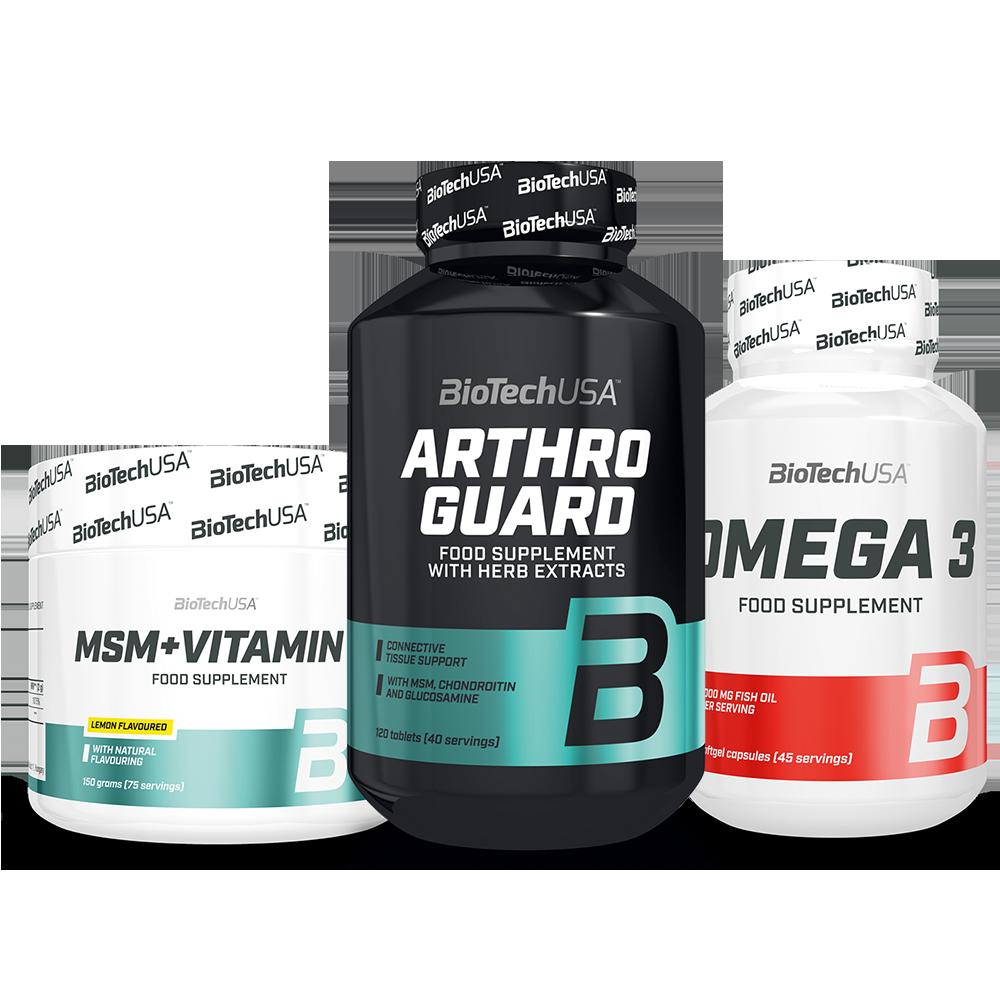 BioTech USA Arthro Guard + MSM Plus vitamin C + Omega 3 szett