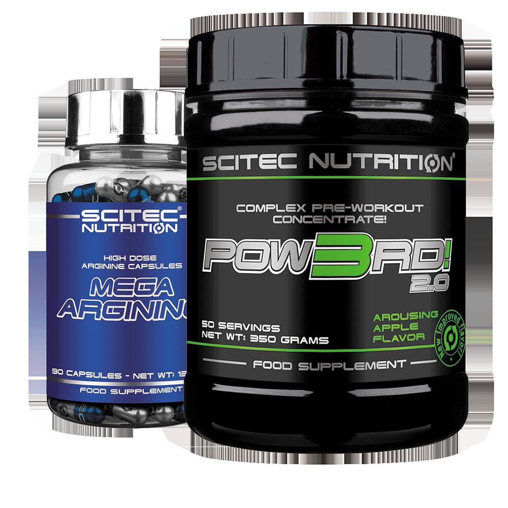 Scitec Nutrition Pow3rd! + Mega Arginine szett