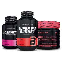 BioTech USA Super Fat Burner+L-Carnitine 1000+Pre Workout for Her (szett)