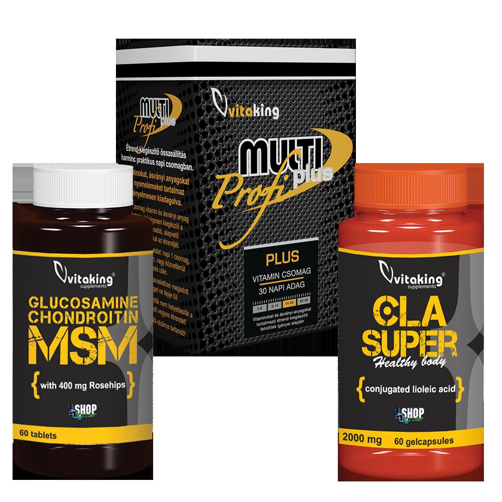 VitaKing Glükozamin Kondroitin MSM komplex + Multi Plus Pro szett