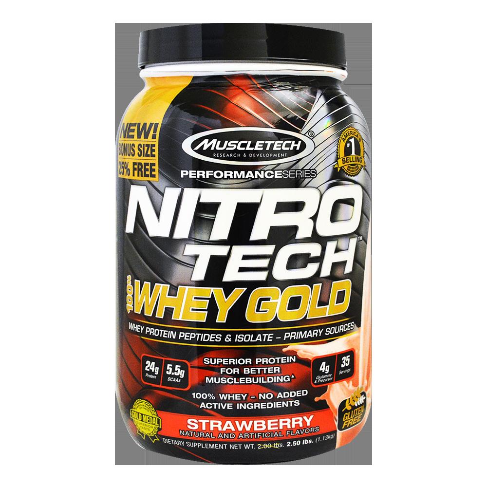 MuscleTech Nitro Tech 100% Whey Gold 1,13 kg