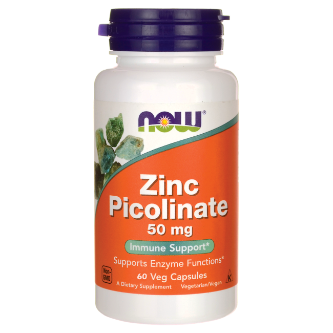 Now Foods Zinc Picolinate 50mg 60 kap.