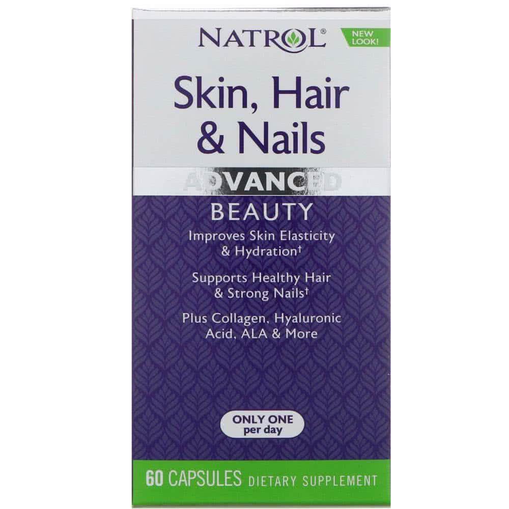 Natrol Skin Hair and Nails 60 kap.