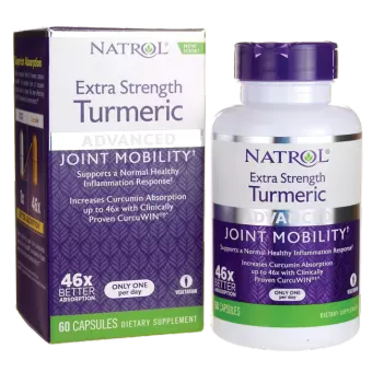 Natrol Turmeric Extra Strength 60 kap.