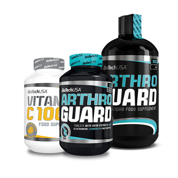 BioTech USA Arthro Guard + Arthro Guard Liquid + Vitamin C 1000 Bioflavonoids szett