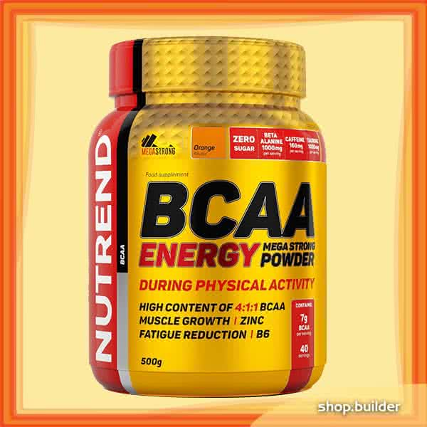 Nutrend BCAA Energy Mega Strong Powder 500 gr.