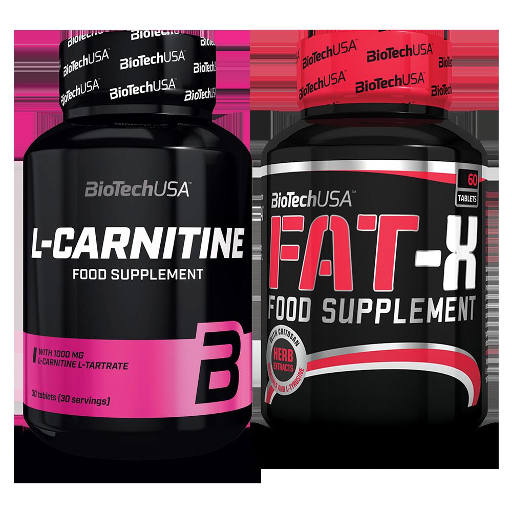 BioTech USA L-Carnitine + Fat-X szett