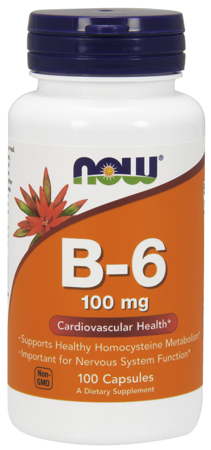 Now Foods Vitamin B-6 100 kap.