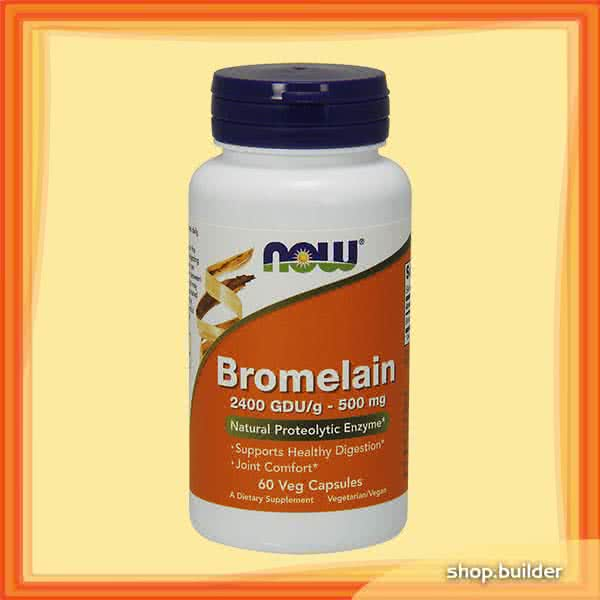Now Foods Bromelain  60 kap.