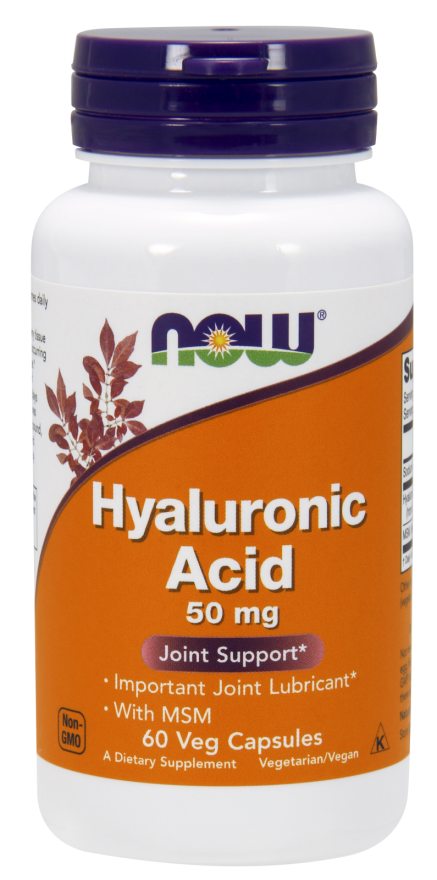 Now Foods Hyaluronic Acid with MSM 60 kap.