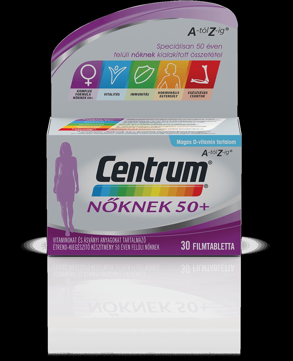 Centrum Centrum Nőknek 50+ A-tól Z-ig 30 tab.