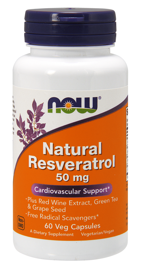 Now Foods Natural Resveratrol 50mg 60 kap.