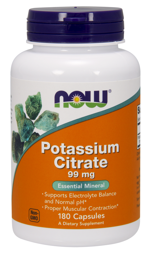 Now Foods Potassium Citrate 180 kap.