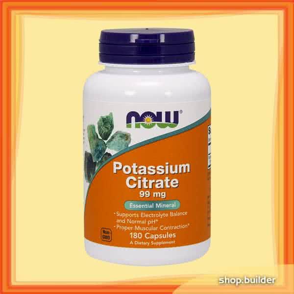 Now Foods Potassium Citrate 180 kap.