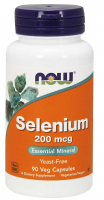 Now Foods Selenium (200mcg) (90 kap.)