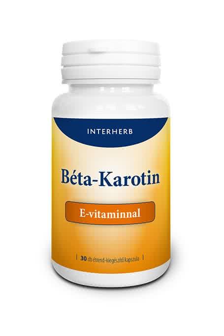 Interherb Béta-Karotin + E-vitamin 30 kap.