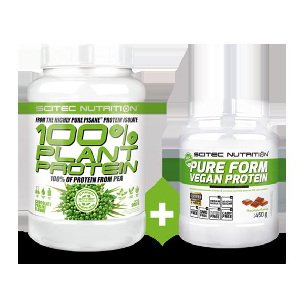 Scitec Nutrition 100% Plant Protein + Pure Form Vegan Protein szett