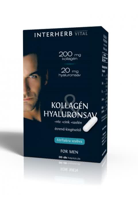 Interherb Kollagén & Hyaluronsav for Men 30 kap.