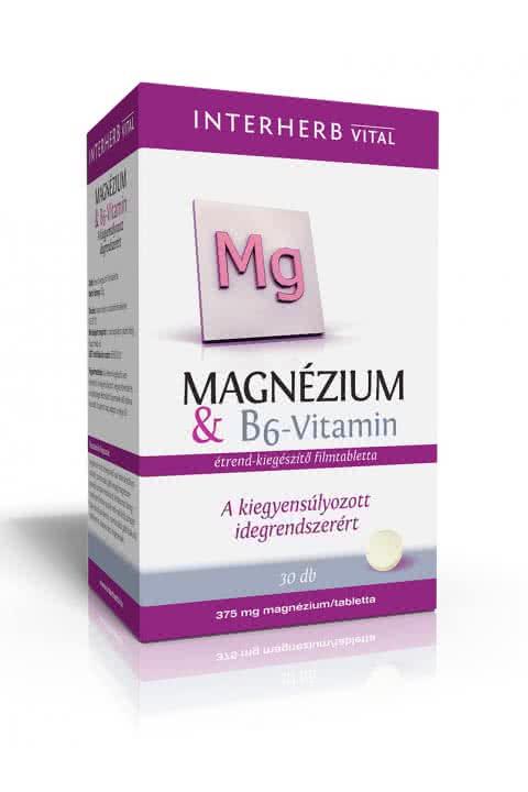 Interherb Magnézium + B6-vitamin  30 tab.