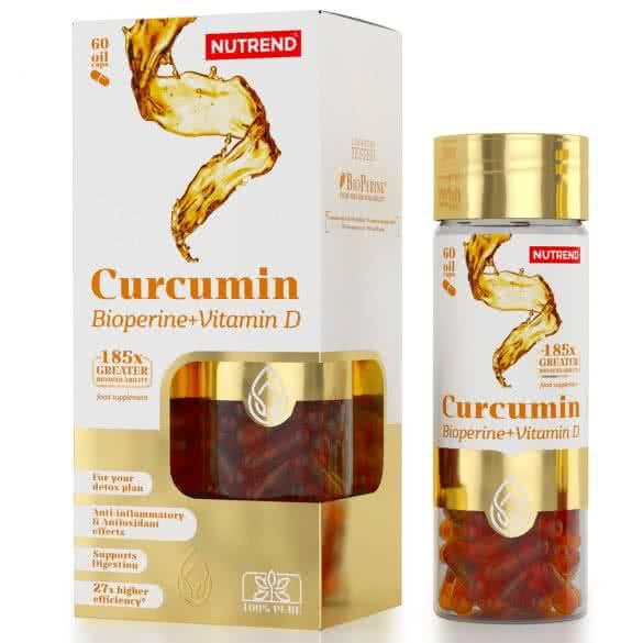 Nutrend Curcumin+Bioperine+Vitamin D 60 g.k.