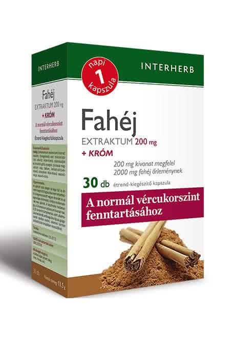 Interherb Fahéj Extraktum  30 kap.