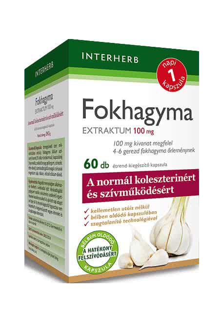 Interherb Fokhagyma Extraktum  60 kap.