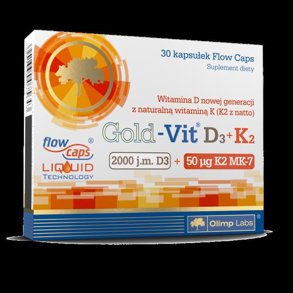 Olimp Sport Nutrition Gold-Vit D3+K2 30 kap.