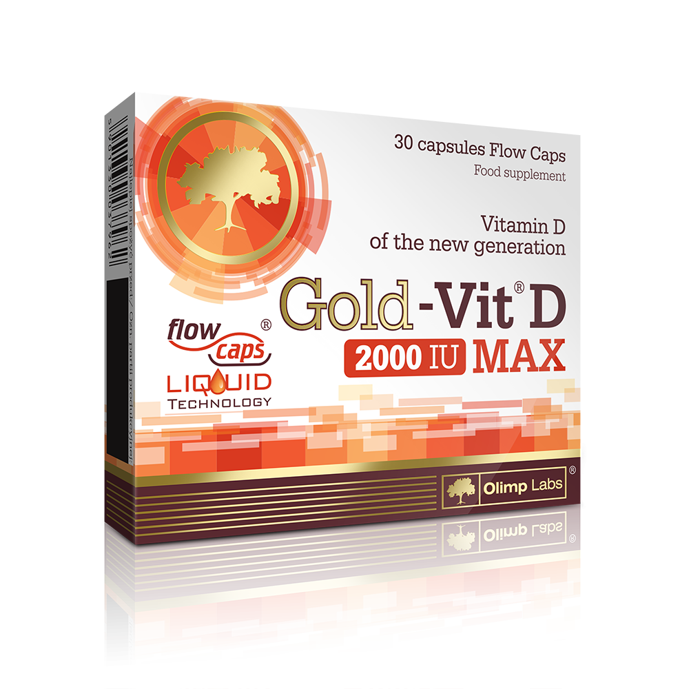 Olimp Sport Nutrition Gold Vit D 2000 IU Max  30 kap.