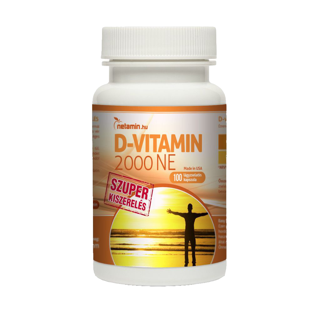 Netamin D-vitamin 2000 IU 100 kap.