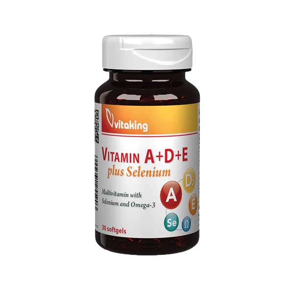 VitaKing Vitamin A+D+E plus Selenium 30 kap.
