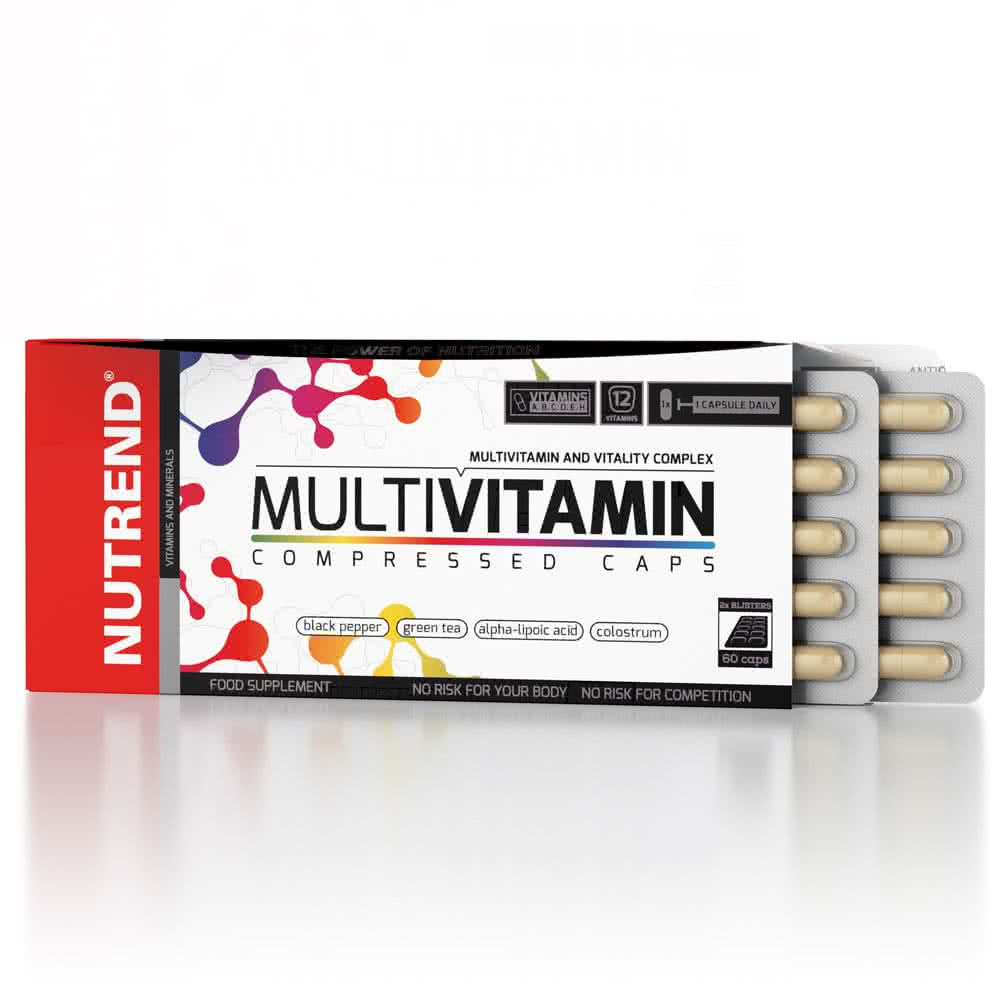 Nutrend MultiVitamin Compressed Caps 60 kap.