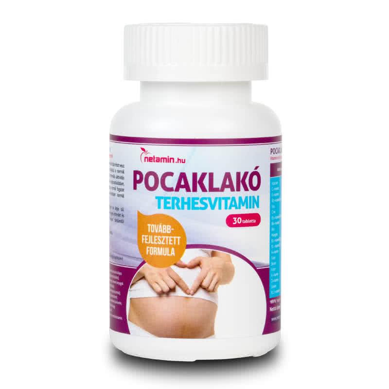 Netamin Pocaklakó terhesvitamin  30 tab.