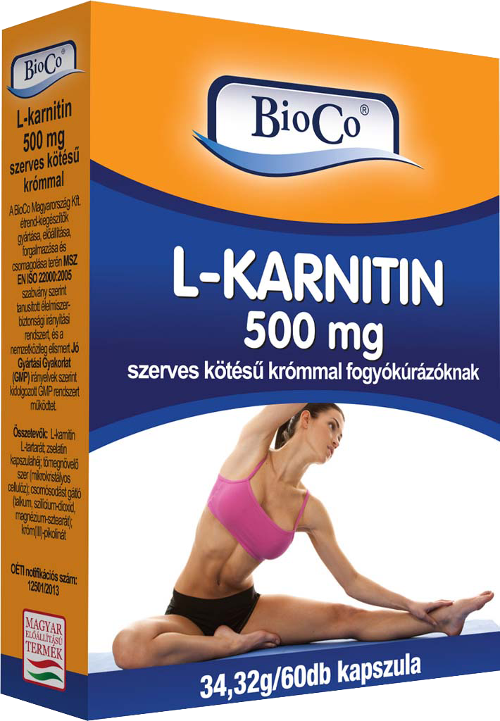BioCo L-Carnitine 500 mg 60 kap.