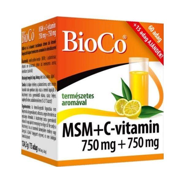BioCo MSM + Vitamin C 75 db