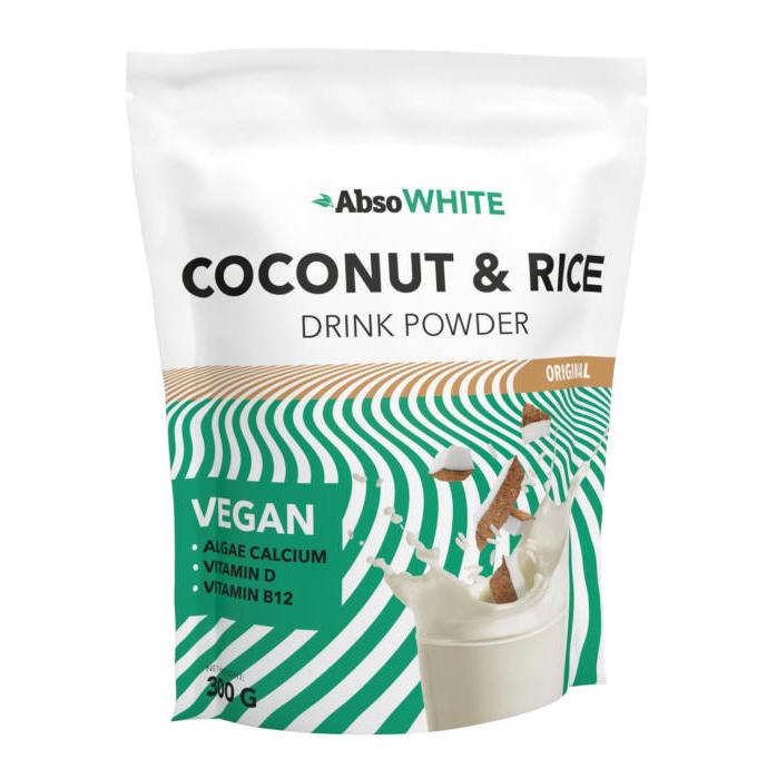 AbsoRice AbsoWhite Coconut & Rice Növényi italpor 0,3 kg