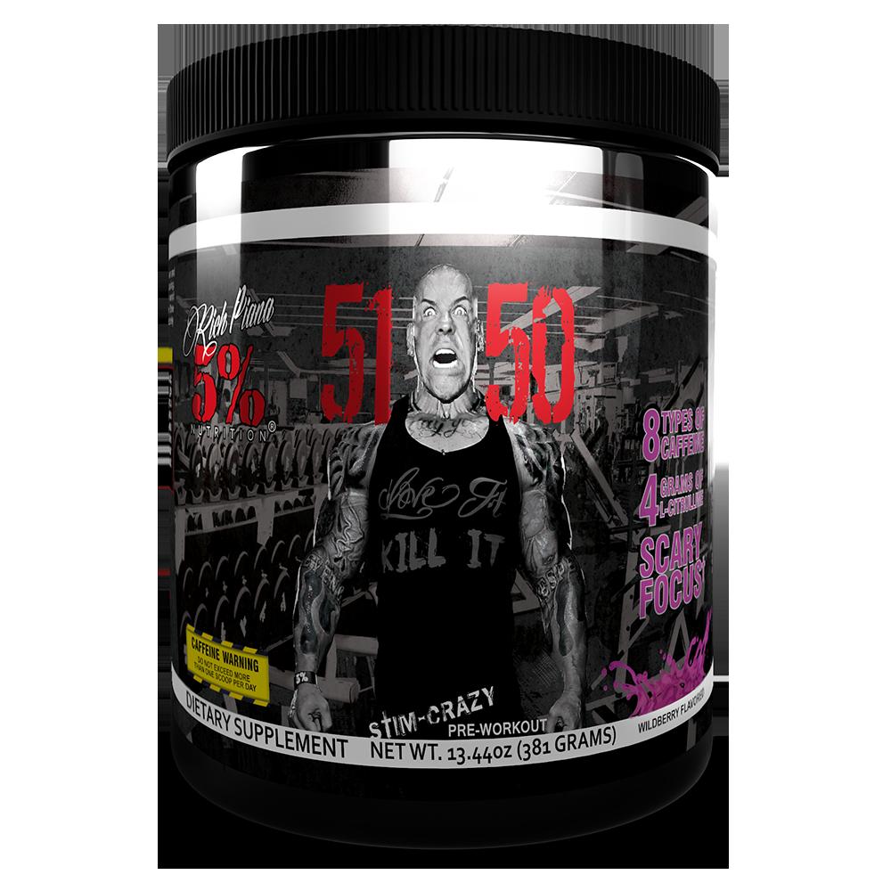 5% Nutrition 51 50 Stim Crazy Pre-Workout 375 gr.