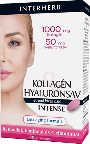 Interherb Kollagén - Hyaluronsav Intense 30 tab.