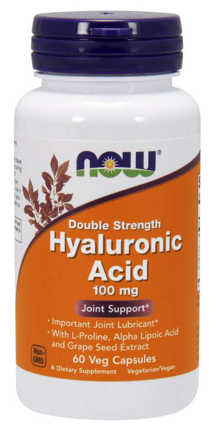 Now Foods Double Strength Hyaluronic Acid  60 kap.
