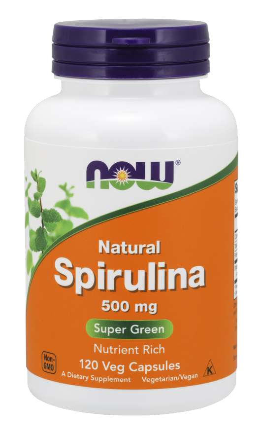 Now Foods Natural Spirulina 120 kap.