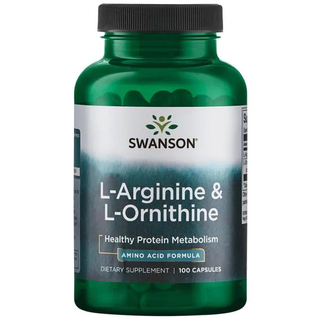 Swanson L-Arginine & L-Ornithine 100 kap.
