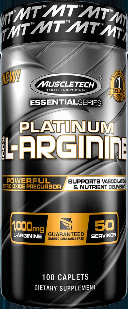 MuscleTech Platinum 100% L-Arginine 100 kap.